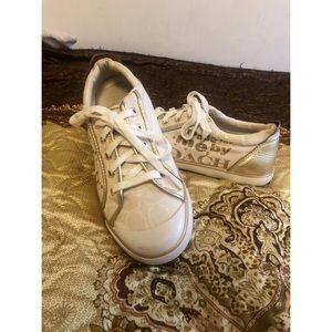 COACH Beige Canvas Sneakers